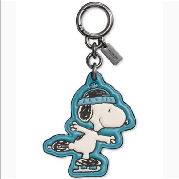 Peanuts Key Charm Collection Surfboard SNOOPY Keychain Chain
